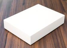Pusty białego pudełka egzamin próbny up zdjęcie royalty free