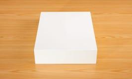 Pusty białego pudełka egzamin próbny up Zdjęcie Stock
