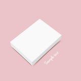 Pusty białego pudełka egzamin próbny up również zwrócić corel ilustracji wektora Zdjęcie Stock
