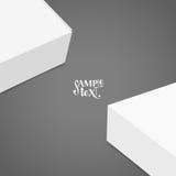 Pusty białego pudełka egzamin próbny up również zwrócić corel ilustracji wektora Fotografia Stock