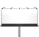 Pusty Biały Billboard Przygotowywający dla Twój Wiadomości Obraz Royalty Free
