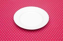 Pusty biały obiadowy talerz Zdjęcia Stock