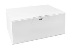 Pusty biały papierowy pudełko Fotografia Stock