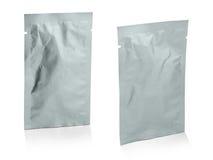 Pusty biały produkt pakuje na białym tle. obrazy royalty free