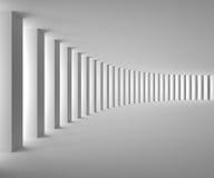 Pusty Biały wnętrze z Dużym światłem i kolumnami ilustracja wektor