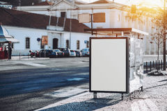 Pusty biały billboardu placeholder egzamin próbny Zdjęcie Stock