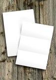Pusty biały papier Obrazy Stock
