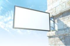 Pusty biały signboard Obrazy Stock