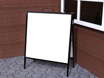 Pusty bielu A plenerowej reklamy stojaka mockup ramowy kruszcowy set, 3d rendering, odizolowywający, Jasny uliczny signage deski  Ilustracji