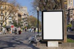 Pusty billboard dla oznakować zdjęcie stock