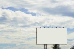 Pusty billboard lub plakat dla plenerowej reklamy obrazy stock