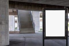 Pusty billboard na betonowej ściany tle pod mostem Obrazy Stock