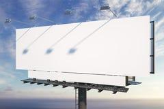 Pusty billboard na nieba tle ilustracja wektor