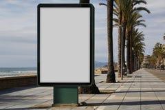 Pusty billboard outdoors zdjęcie stock