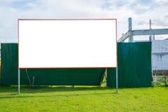 Pusty billboard przy budową Zdjęcia Stock