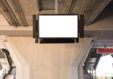 Pusty billboard przy zmierzchem dla reklamy Zdjęcia Stock