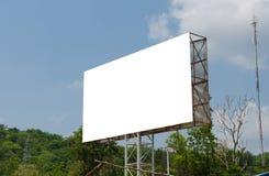 Pusty billboard przygotowywający dla nowej reklamy Fotografia Royalty Free