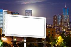 Pusty billboard Reklamowy Podpisuje wewnątrz Miastowego pejzaż miejskiego Zdjęcia Royalty Free