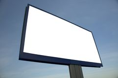 Pusty billboard, właśnie dodaje twój tekst Fotografia Stock