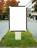Pusty billboard w centrum miasta zdjęcie royalty free