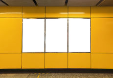 Pusty billboard w metro staci metru Fotografia Stock