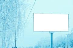 Pusty billboard w mieście nad droga obraz royalty free