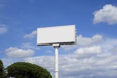 Pusty billboardu egzamin próbny up Zdjęcie Stock