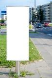pusty billboardu miasto Zdjęcia Stock