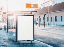 Pusty billboardu placeholder egzamin próbny Obraz Stock