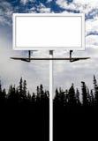 Pusty billboardu znak Dla Twój wiadomości zdjęcia royalty free