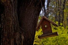 Pusty birdhouse w parku obrazy stock
