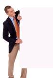 pusty biznesowy mienia mężczyzna plakat Obraz Stock