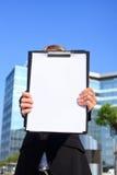 pusty bizneswomanu dokumentu target4246_0_ Zdjęcia Stock