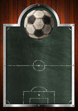 Pusty Blackboard dla piłka nożna sporta Fotografia Stock