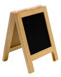Pusty blackboard menu stojak obrazy stock