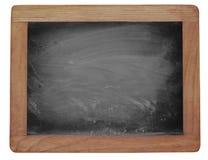 Pusty blackboard z kreda nacierającą teksturą obrazy royalty free