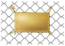 pusty brązowy metalu sieci talerza drut Obrazy Royalty Free