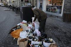 PUSTY butelka odpady Obrazy Stock