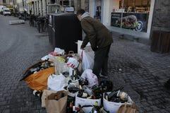 PUSTY butelka odpady Fotografia Stock