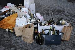PUSTY butelka odpady Obrazy Royalty Free
