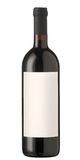 pusty butelki etykietki czerwone wino Fotografia Royalty Free