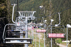 Pusty cableway przy Niskim Tatras, Sistani Obraz Stock