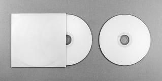 Pusty cd na szarość Zdjęcia Stock