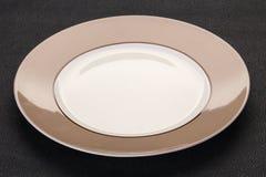 Pusty ceramiczny talerz obraz royalty free