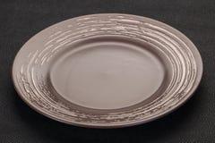 Pusty ceramiczny talerz zdjęcie royalty free