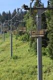 Pusty chairlift przy Snowbird Utah w lecie obrazy royalty free