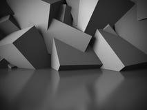 Pusty ciemny abstrakcjonistyczny izbowy wewnętrzny tło obrazy stock