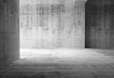 Pusty ciemny abstrakta betonu pokoju wnętrze Zdjęcia Royalty Free