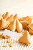 pusty cookie fortunę papieru Fotografia Stock
