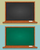 Pusty Czarny i Zielony Blackboard Zdjęcia Royalty Free